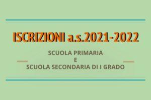 ISCRIZIONI a.s.2021-2022