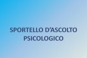 MODALITÀ FRUIZIONE DEL SERVIZIO DI SPORTELLO D'ASCOLTO PSICOLOGICO